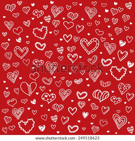 Valentines Day background pattern - stock vector