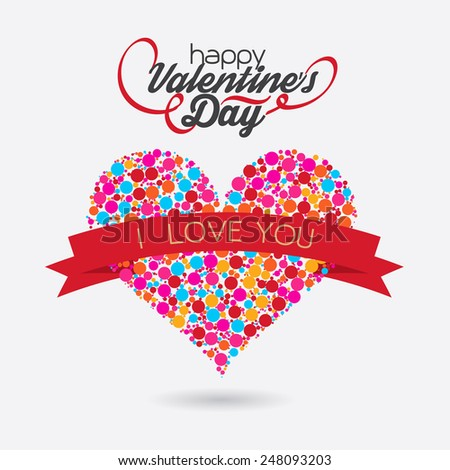 Valentines Day bubble hart Design.  - stock vector