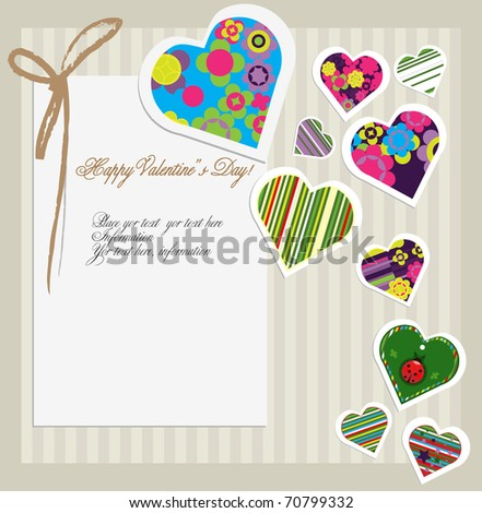 Valentines day card - stock vector