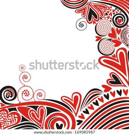 Valentines day card hearts romantic pattern background vector illustration - stock vector