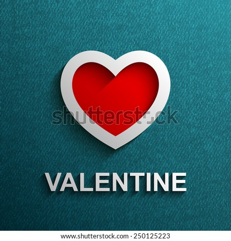 Valentines day card with heart, Vector illustration Eps 10 - stock vector