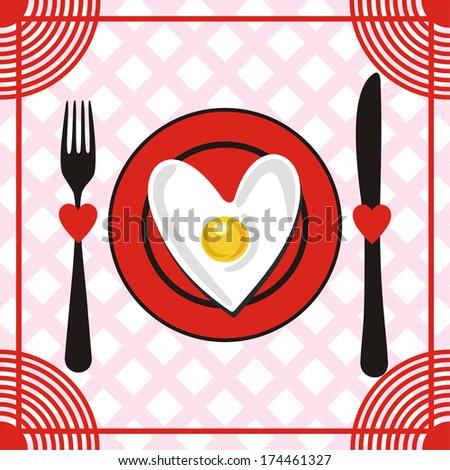 Valentines day menu vector illustration - stock vector