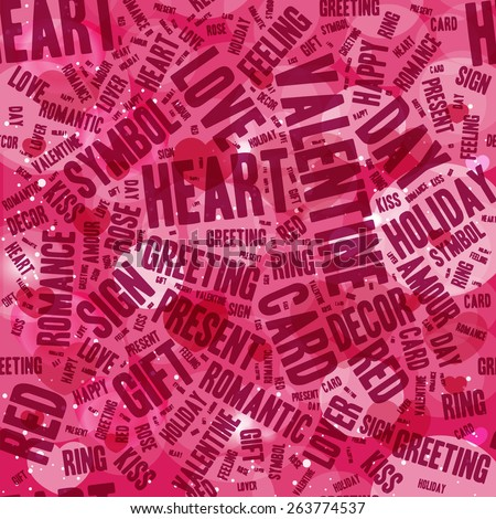 Valentines day modern lettering background - stock vector