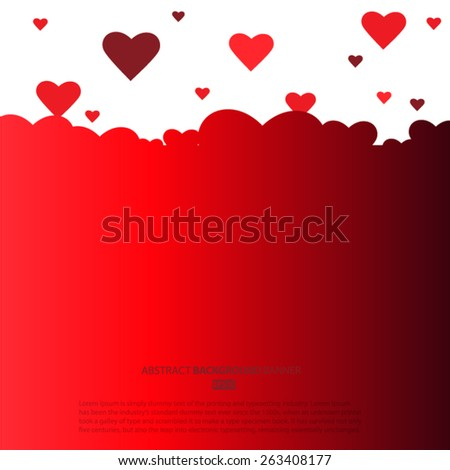 Valentines day.  Vector EPS 10 illustration. - stock vector