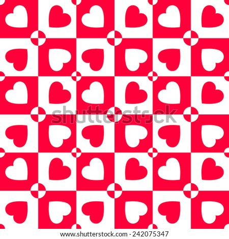 Valentines day vector pattern with hearts. Paper for scrapbook - stock vector