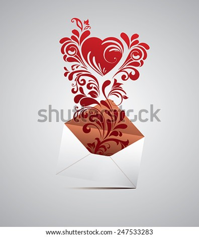 Valentines envelope. - stock vector