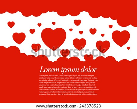 Valentines hearts. Vector illustration concept - stock vector