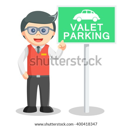 Valet parking - stock vector