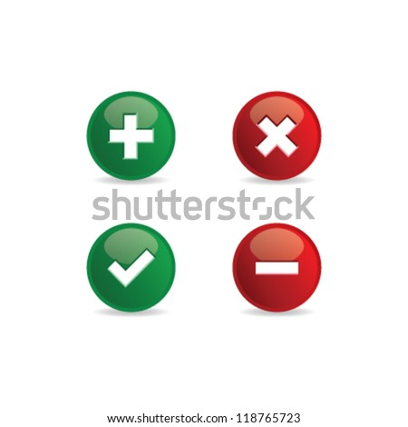 Validation icons. Vector illustration. - stock vector