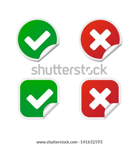 Validation labels - stock vector