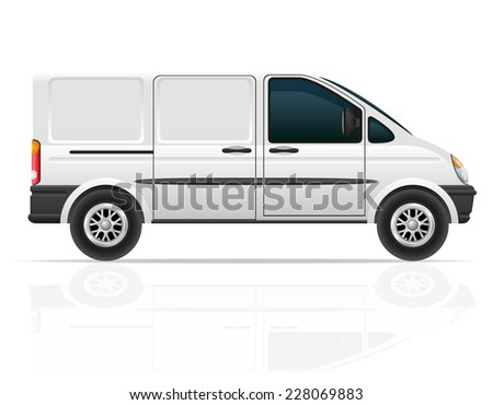 van for the carriage of cargo vector illustration isolated on white background - stock vector