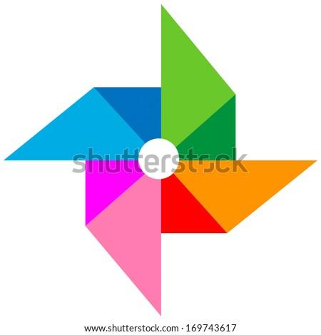 vane paper colorful vector - stock vector