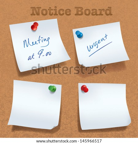 Various angle sticky note. - stock vector