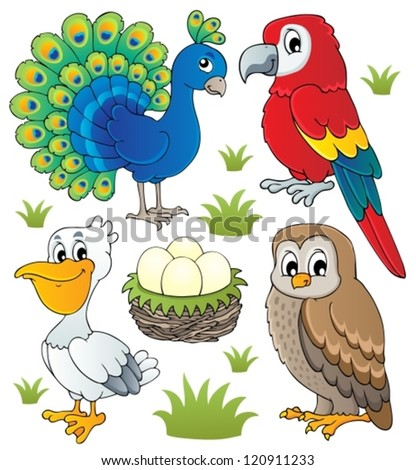 Various birds theme set 2 - vector illustration. - stock vector