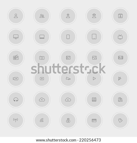 Various business and technology icon collection set 2 (style 2), create by vector  - stock vector