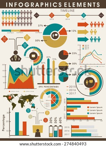 Various business infographics elements collection to fulfill your professional and corporate needs.  - stock vector