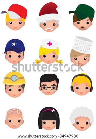 various career icon - stock vector