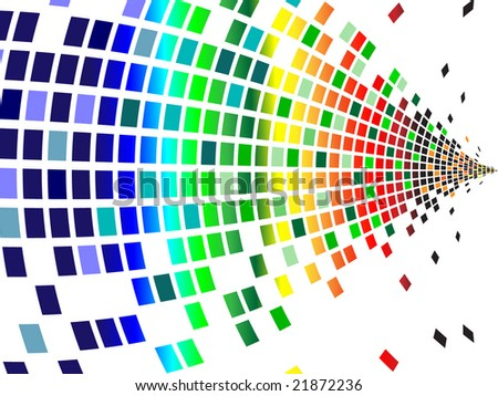 various colors pixels - stock vector