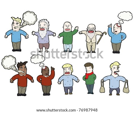 various people cartoon collection - stock vector