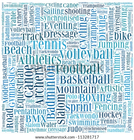 Various sport info-text graphics and arrangement vector - stock vector