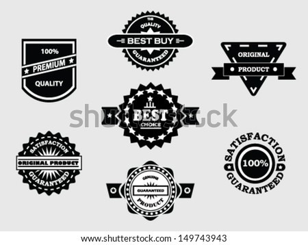 Various Vintage Badges - stock vector