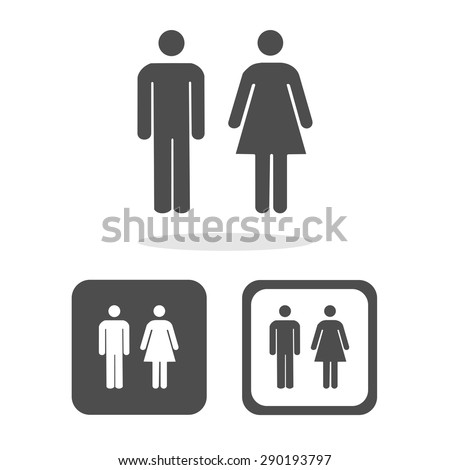 Vector a man and a lady toilet sign, Illustration EPS10 - stock vector