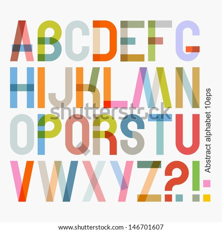 Vector abstract alphabet ( 10eps ) - stock vector