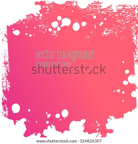 Vector abstract artistic colorful ink drops background template - stock vector