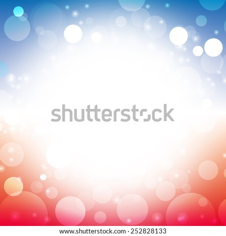 vector abstract background blur color of american flag lens flare illustration - stock vector
