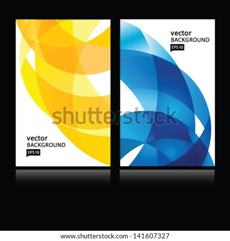 Vector abstract background.Business card set.EPS10 - stock vector