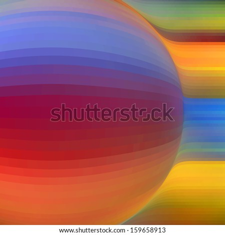 Vector abstract background. Colorful abstract illustration.  - stock vector