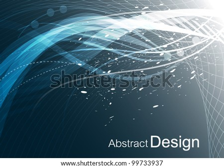 vector abstract background connection technology design - stock vector