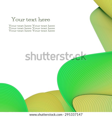 Vector abstract background for flyer, blank, card, banner, invitation, brochure cover design template. Colorful wave design element with space for your text. - stock vector