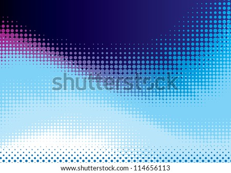 Vector abstract background from blue halftone - stock vector
