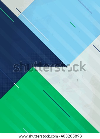 Vector abstract background. Grunge texture. Triangle geometric pattern. Creative sport blue green illustration EPS. - stock vector