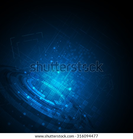 vector abstract background hi tech concept dynamic and movement design - stock vector
