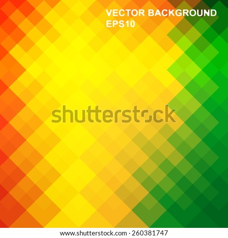 Vector abstract background is composed of iridescent colorful rhombuses - stock vector