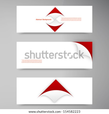 Vector abstract background. Paper and corner square - stock vector