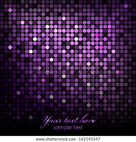 Vector abstract background - purple disco lights - stock vector