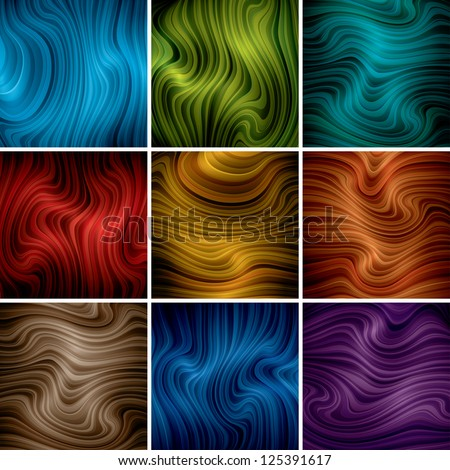 vector abstract background set (eps10, CMYK colors) - stock vector