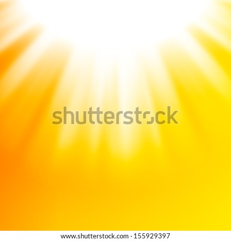 Vector abstract background with autumn sun - stock vector