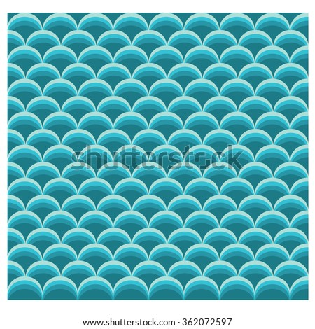 Vector abstract background with colorful fish scale pattern - stock vector