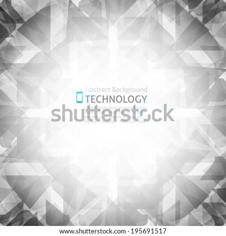 vector abstract background with geometric shapes and phone icon - stock vector