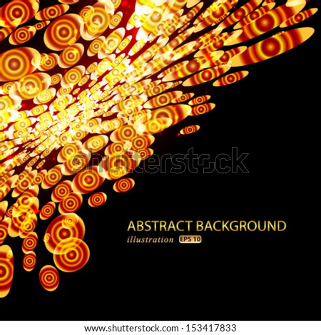 Vector abstract background with luxury glowing. - stock vector