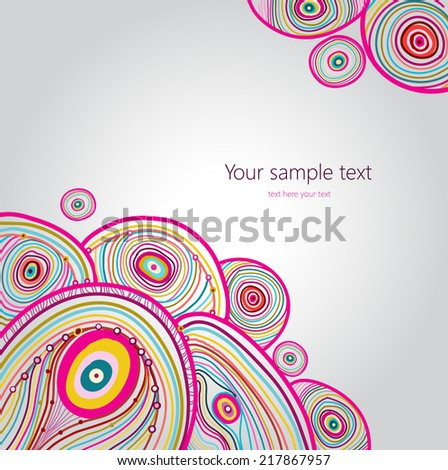 Vector abstract background with place for your text - stock vector