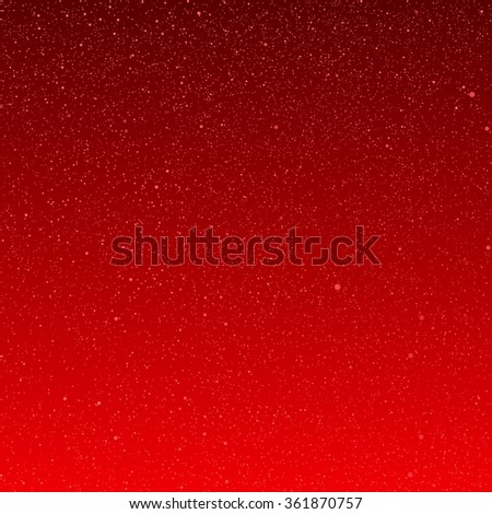 Vector abstract background with snowflakes. Red ice storm. - stock vector