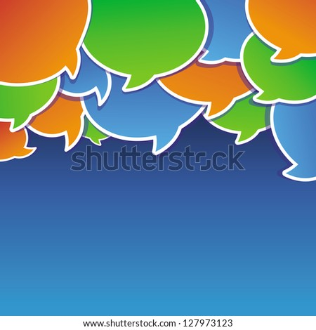 Vector abstract background with speech bubbles and copy space for text - stock vector