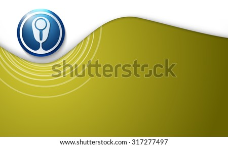 Vector abstract background with spiral and magnifier - stock vector