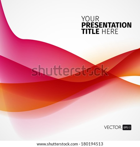 Vector abstract background with waves. Presentation template. - stock vector