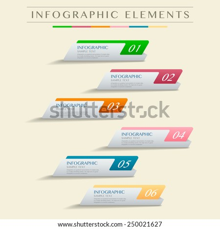 vector abstract banner infographic elements - stock vector